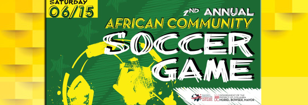2nd Annual African Community Soccer Game